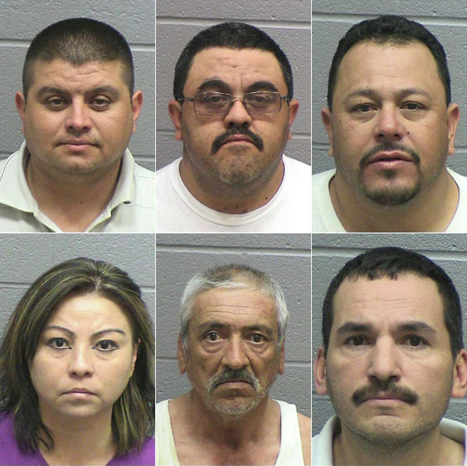 (Clockwise from top left) dam R. Cardenas, 38, of Midland; Carlos M. Chavez, 38, of Bertrum; Alfonso Z. Cordova, 38, of El Paso; Jose M. Delebosque, 36, of Odessa; Jose A. Dominguez, 55, of Odessa; and Blanca Ronquillo-Corrales, 41, of Odessa, were all arrested Friday by Midland County deputies on a charge of engaging in organized criminal activity. All were given a $25,000 bond and all but Ronquillo-Corrales has been released on bail.
