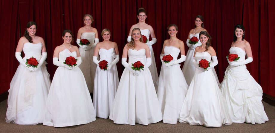 The Minuet Club's debutantes for 2012 are: Clare Hickey, top row from left, Elizabeth Norwood, and Abbye Cremer; and Carole Anne Nelson, bottom row from left, McCall Davenport, Carly Tull, Catherine Gerald, Madeline Spinks, Caroline Hickey and Claire Renaud.