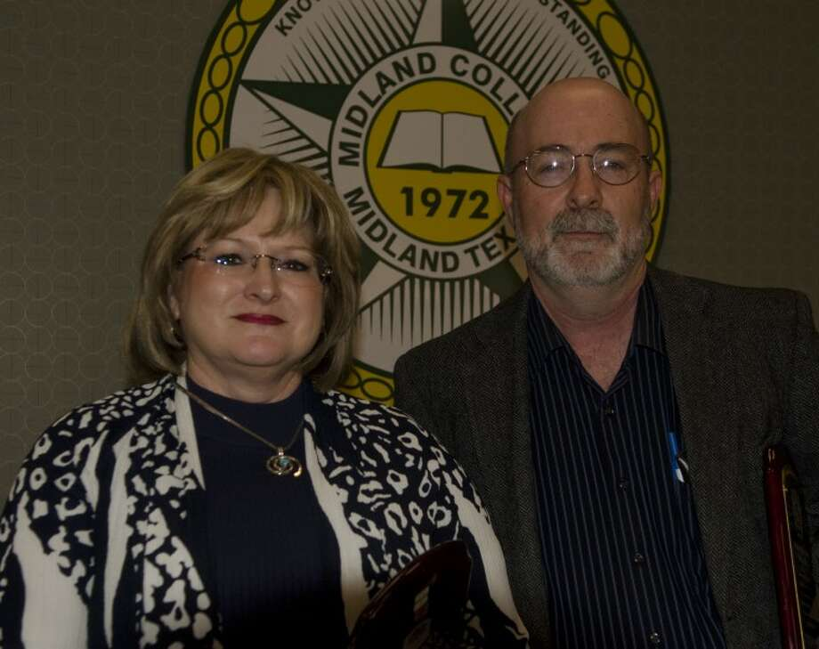 Lynn Mock and Joe Willis were named top educaters Thursday at the Midland College Teaching Excellence Awards. Photo: Tim Fischer/Reporter-Telegram