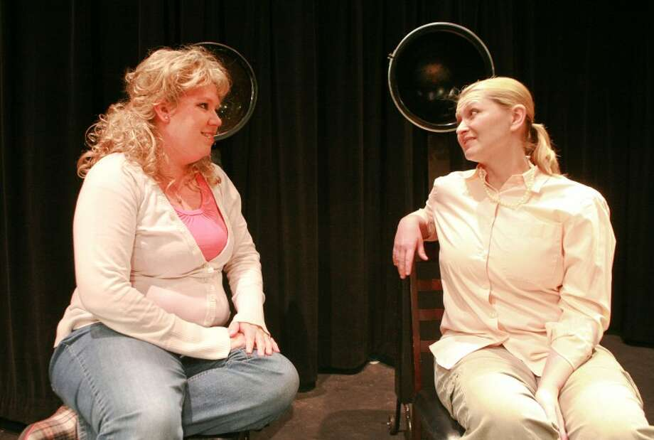 Shelby (Maija Johnson-Horne), left, is talking to her mother M'Lynn (Laura Metzger) about the big suprise. Cindeka Nealy/Reporter-Telegram Photo: Cindeka Nealy