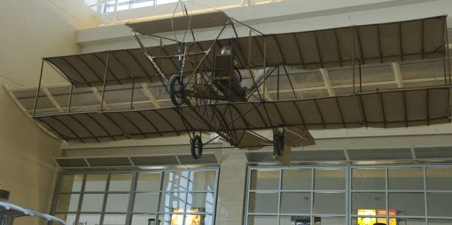 Pliska's plane, completed in 1912, is still on display at the Midland International Airport. The plane, however, could only fly for 15 minute intervals. Photo: Tim Fischer