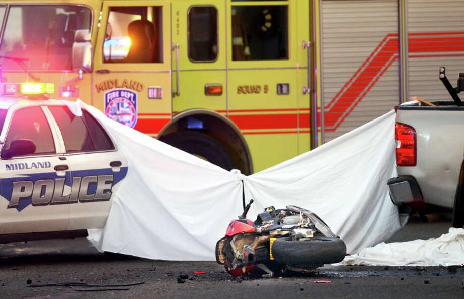 (File Photo) A 23-year old man driving a motorcycle south on Midland Drive was killed in a collision with a truck the intersection of Shell Ave. James Durbin/Reporter-Telegram Photo: JAMES DURBIN / © 2012 Midland Reporter Telegram. All Rights Reserved.