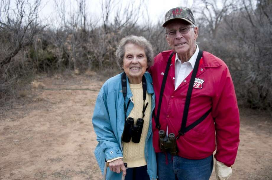 Don and Joann Merritt, avid butterfly and bird watchers, frequently look for interesting species on their property south of Midland. The couple is preparing to celebrate their 66th wedding anniversary. James Durbin/Reporter-Telegram Photo: JAMES DURBIN