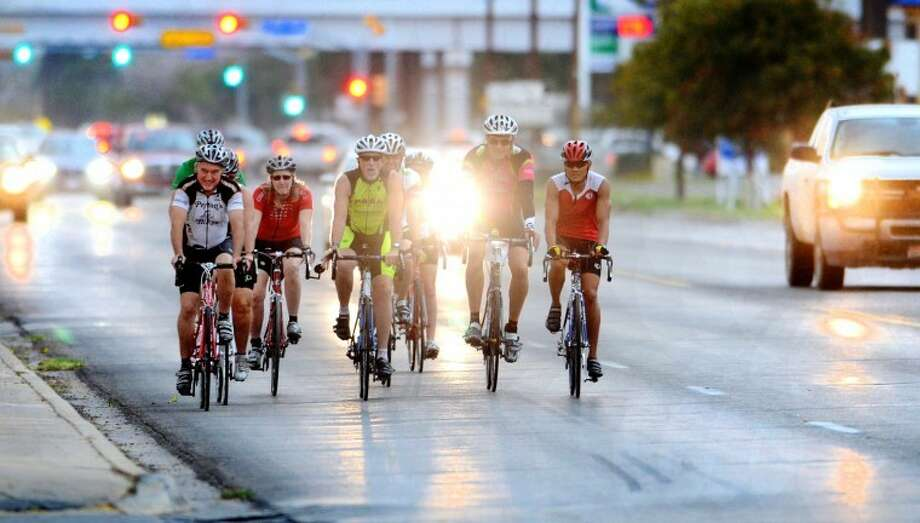 Members of the Permian Bicycle Association participate in a group ride Wednesday on North Midkiff Road. James Durbin/Reporter-Telegram Photo: JAMES DURBIN