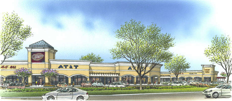 (File Photo) A ground-level Rendering of improvements to be made at the Cornerstone shopping center, located at the corner of Midland Drive and Loop 250. Photo: Courtesy Gordon Partners