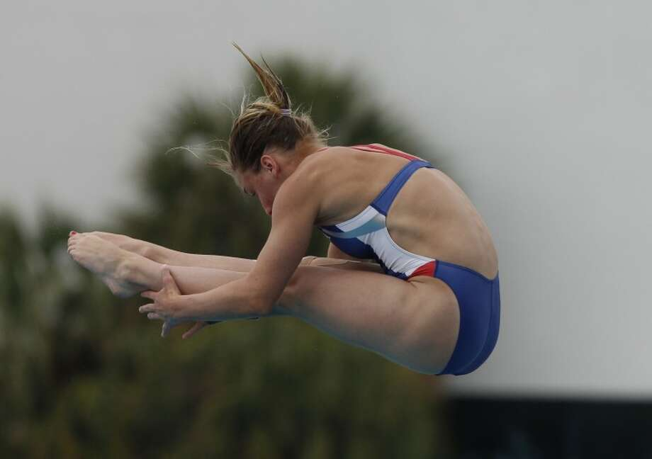 Midlander Anna James competes in an event in Ft. Lauderdale, Fla., last year. James qualified for the World Junior diving championship in Australia later this fall. (Photo by Hans Deryk/US Diving) Photo: HANS DERYK