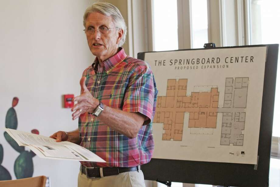 Tim Baker, founder of the Springboard Center, announces in this July 28, 2011 file photo that the center will begin a fundraising project to raise $2.7 million for the construction of a new wing that will include six additional beds, office space, and an exercise and activities room. Photo: Cindeka Nealy/Reporter-Telegram