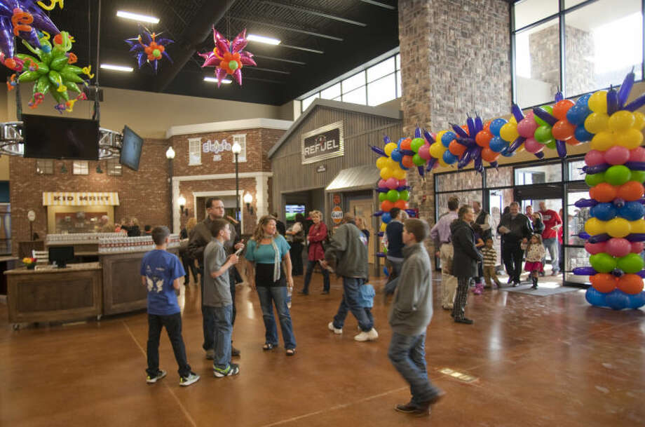 Parishioners at Mid-Cities Church come in to look at the newly opened children's area Saturday following a ribbon cutting and open house. Tim Fischer\Reporter-Telegram Photo: Tim Fischer