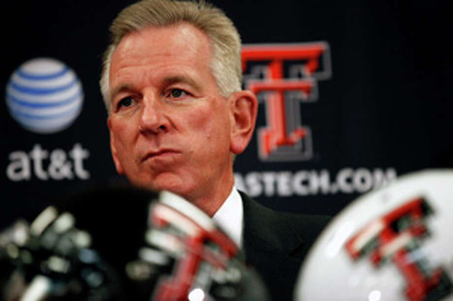 Texas Tech coach Tommy Tuberville speaks during an NCAA college football national signing day news conference, Wednesday, Feb. 1, 2012, in Lubbock, Texas. (AP Photo/The Lubbock Avalanche-Journal, Stephen Spillman) Photo: Stephen Spillman / Lubbock Avalanche-Journal
