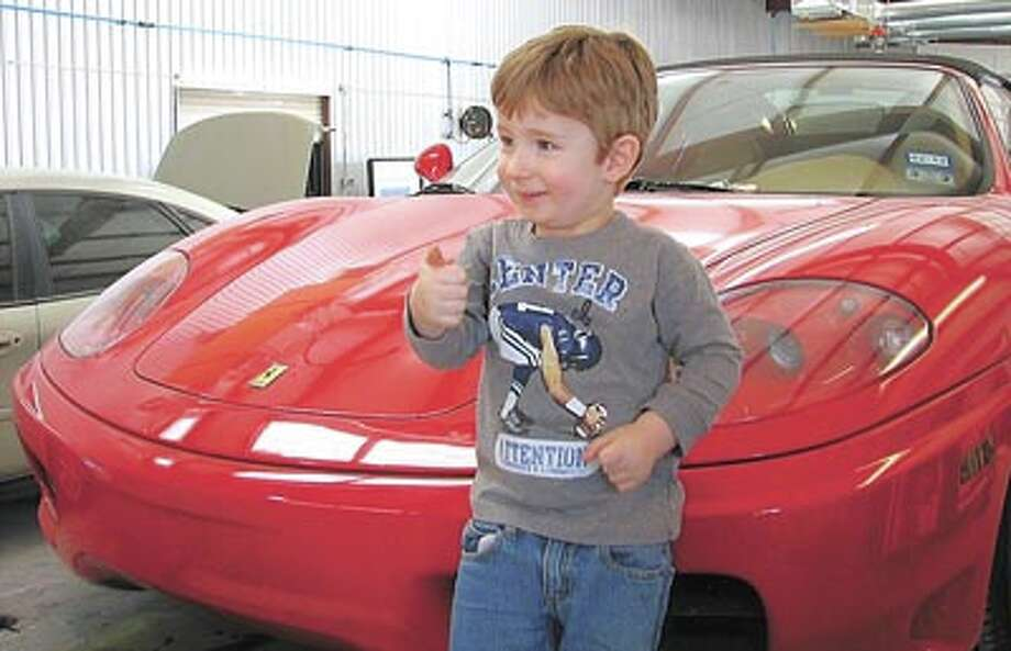 Gavin doesn't have an income tax yet--his allowance is still under the radar! But if he did, he'd be glad to use his tax refund to have his dad, Allstar owner Allen Frasier, give his Ferrari a bright new paint job. At Allstar, every job is a thumbs up!