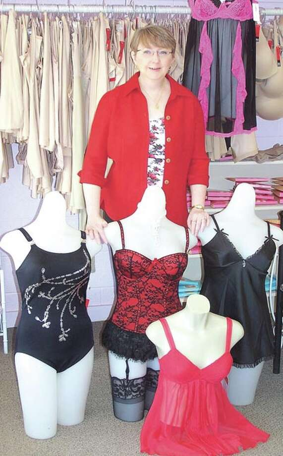 Lingerie is something you wear but it's really for him. See what he would like at The Pennyrich Shop, 311 Dodson Street in Old Town Midland.
