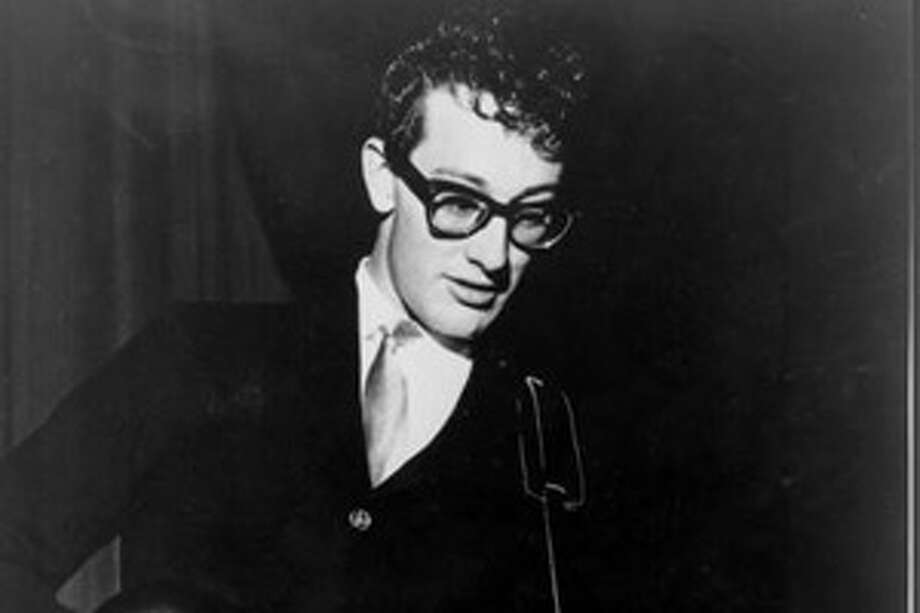 Buddy Holly perfroms during the 1950s.