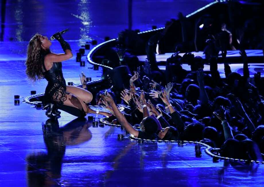 Beyonce performs during the halftime show of the NFL Super Bowl XLVII football game between the San Francisco 49ers and the Baltimore Ravens, Sunday, Feb. 3, 2013, in New Orleans. (AP Photo/Gerald Herbert) Photo: Gerald Herbert / AP