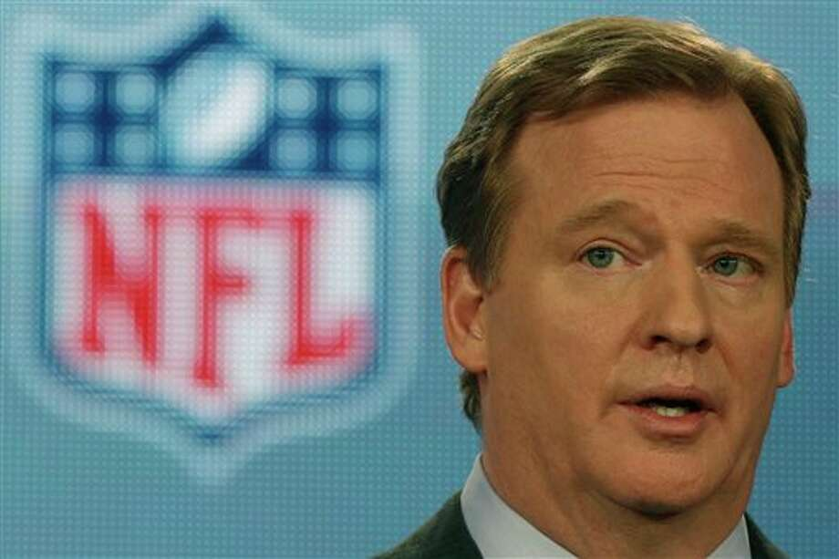 NFL Commissioner Roger Goodell answers questions during an NFL Super Bowl XLVII football game news conference at the New Orleans Convention Center, Friday, Feb. 1, 2013. in New Orleans. (AP Photo/Gerald Herbert) Photo: Gerald Herbert / AP