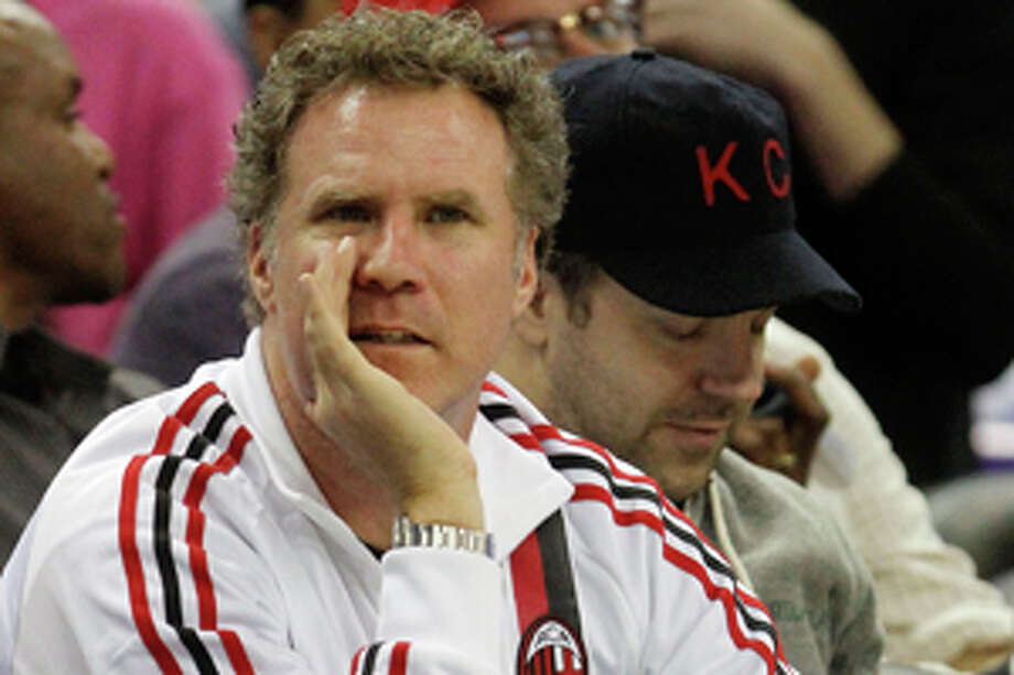 Actor Will Ferrell looks on during the first half of an NBA basketball game between the New Orleans Hornets and the Orlando Magic in New Orleans, Friday, Jan. 27, 2012. (AP Photo/Bill Haber) Photo: Bill Haber / FR170136 AP