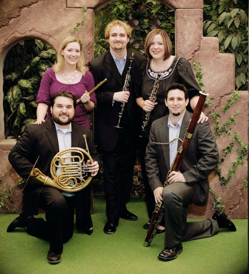 West Texas Wind members: Ashleigh Leas, flute; Caryn Crutchfield, oboe; Chris Chance, clarinet; Luis F. de la Garza III, bassoon; and Matthew Haislip, horn. Photo: Courtesy Photo