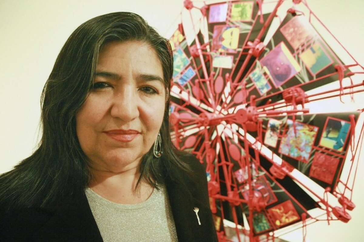 Linda Vallego is exhibiting her paintings, sculptures and Central Mandala in the Contemporary Gallery at the Museum of the Southwest. Cindeka Nealy/Reporter-Telegram