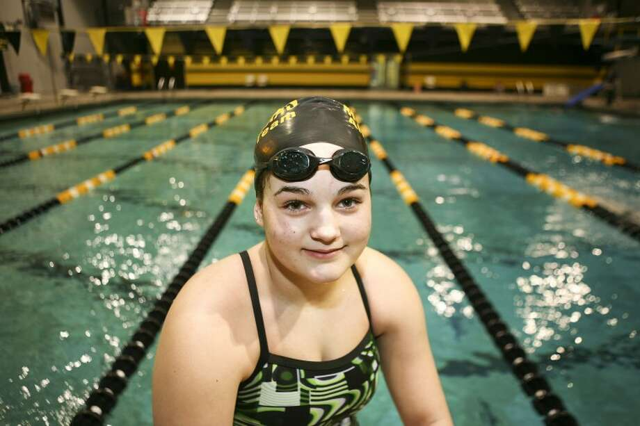Midland High swimmer Blythe Larry will compete in the 100-meter backstroke and 200-meter individual medley during this weekend's regional swimming and diving meet in Lubbock. Cindeka Nealy/Reporter-Telegram Photo: Cindeka Nealy