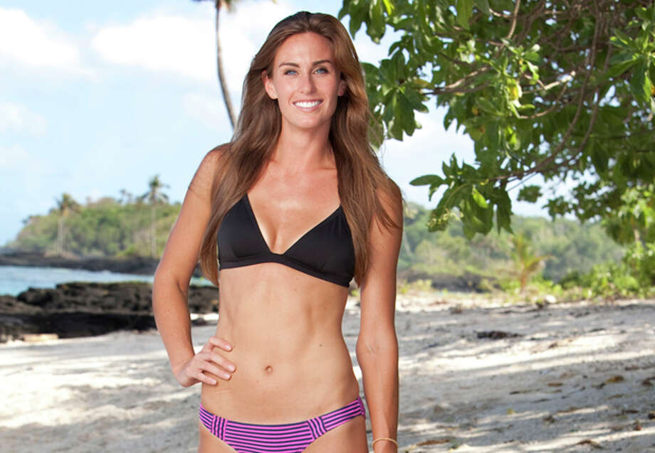 "In this image released by CBS, former Midlander Kimberly Spradlin is shown during the first episode of ""Survivor: One World,"" the 24th installment of the reality competition series which premiered Wednesday, Feb. 15. Photo: AP Photo 