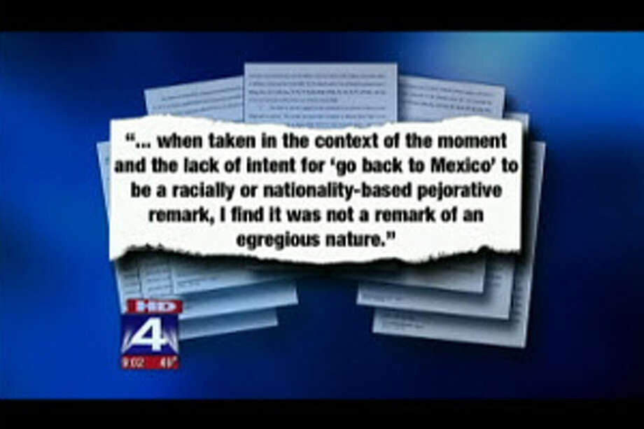 A Texas teacher has been put on administrative leave for telling a Hispanic student to 'go back to Mexico' at the end of a stressful week.