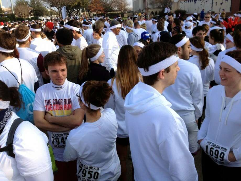 Runners gather at Fair Park in Dallas moments before the Color Run began on Feb. 18