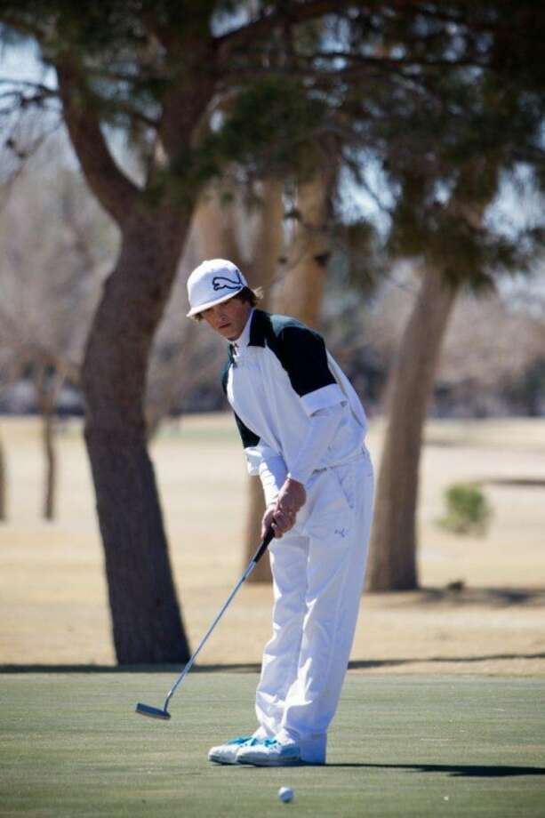 Claire Heck/Special to the MRTAndrews' Hunter Montgomery putts on Friday during the Jack Ratcliff Tall City Invitational at Ranchland Hills Golf Club.