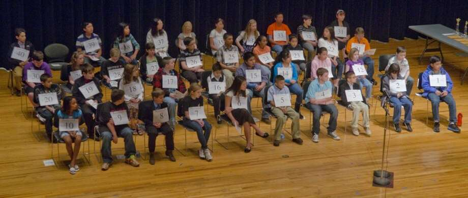 Contestants at the 2012 Regional Spelling Bee. Photo by Tim Fischer/Midland Reporter-Telegram Photo: Tim Fischer