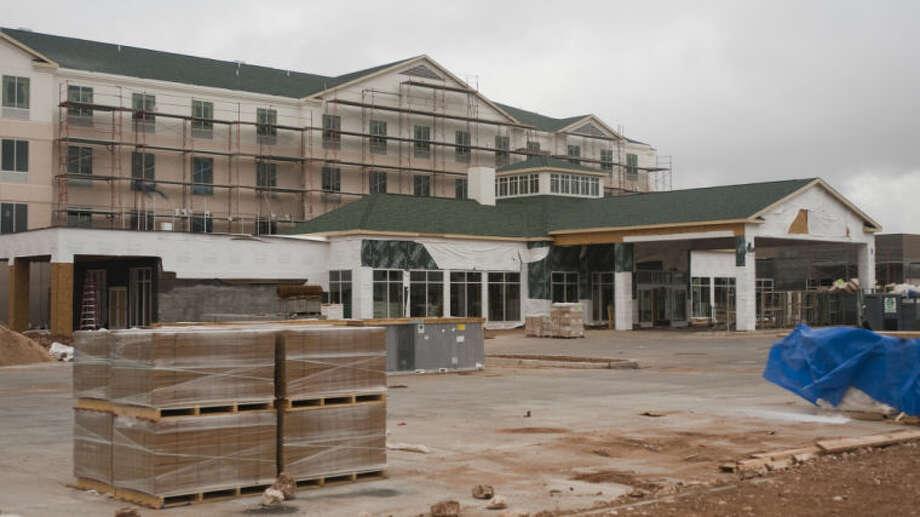 Work continues on new motels near the Sports Complex. Tim Fischer\Reporter-Telegram Photo: Tim Fischer