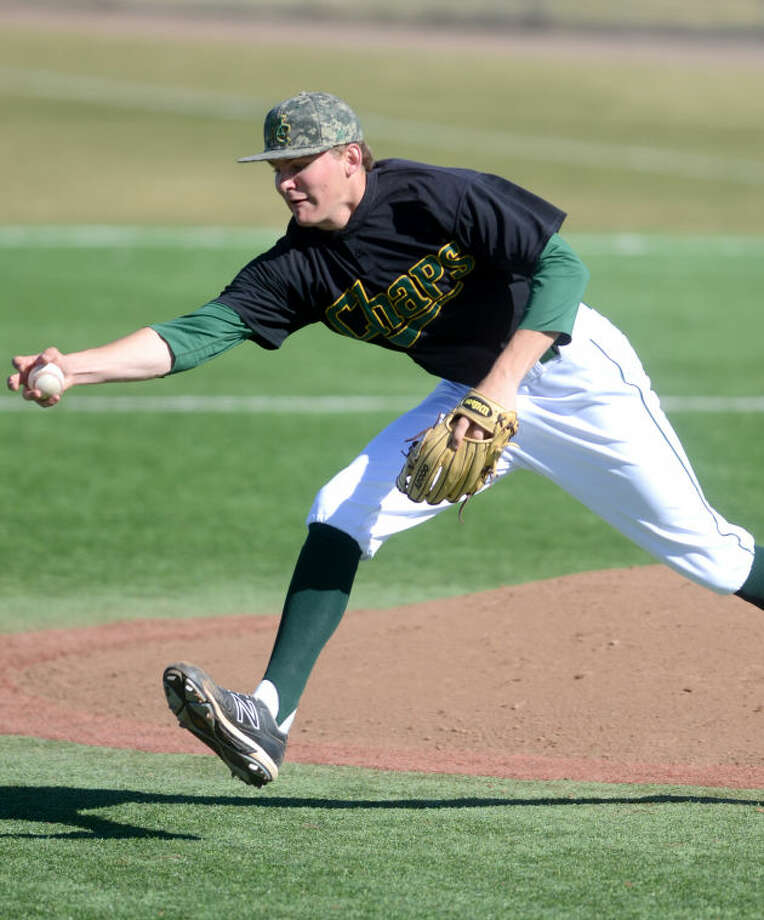 Midland College pitcher Thomas McIlraith barehands a grounder before throwing to first for the out during the second game of a doubleheader against McClennan College on Saturday at Christensen Stadium. James Durbin/Reporter-Telegram Photo: JAMES DURBIN