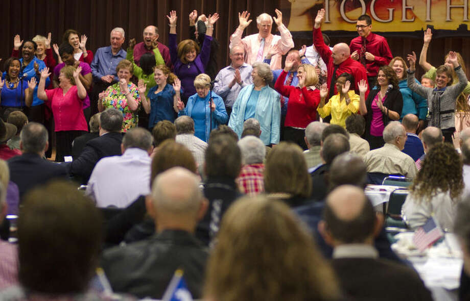 Members of True Lite and First Presbyterian choirs perform at last year's annual prayer breakfast. Photo by Tim Fischer/Midland Reporter-Telegram Photo: Tim Fischer