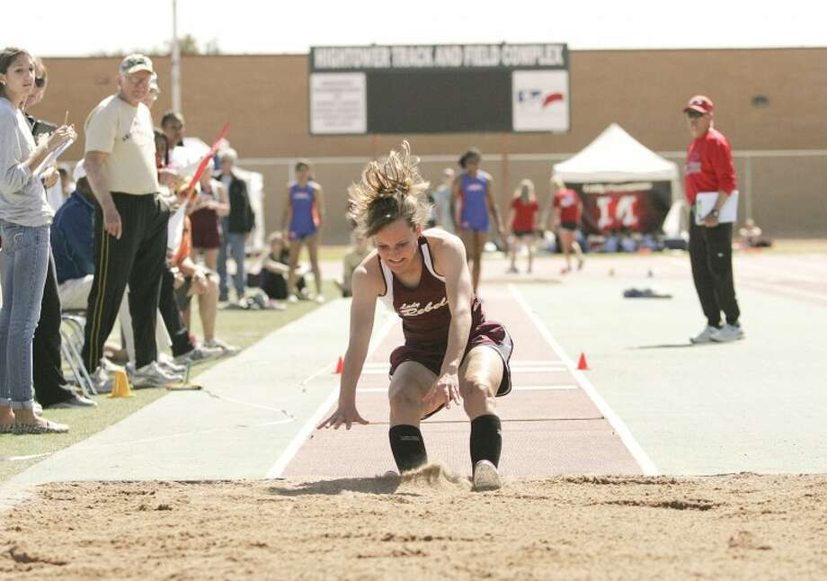 Tori Rackow competes in the triple jump Friday during the Tall City Relays at Memorial Stadium. Cindeka Nealy/Reporter-Telegram Photo: Cindeka Nealy
