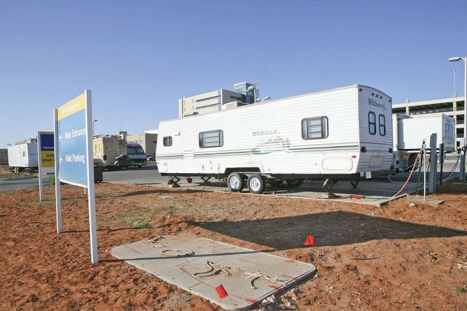 Midland Memorial Hospital is offering free RV hookups, water and electricity to families who have patients in the hospital. Cindeka Nealy/Reporter-Telegram Photo: Cindeka Nealy