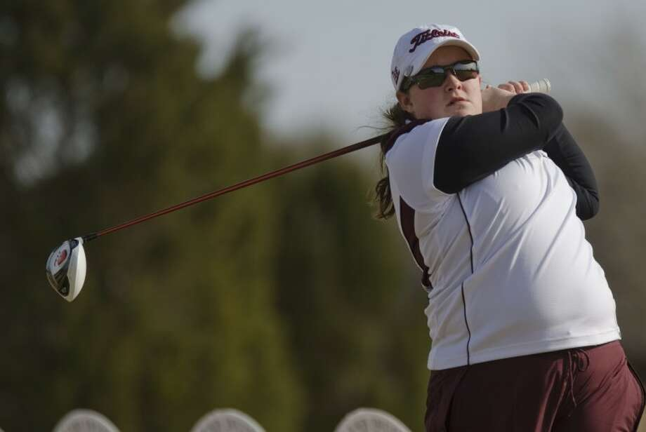 Lee's Libby Thomas follows her shot at the Tall City Invitational at Green Tree Country Club. Photo by Tim Fischer/Midland Reporter-Telegram Photo: Tim Fischer