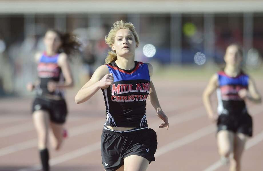 Midland Christian's Kelsey Edwards competes in the 400-meter run during the Tall City Relays earlier this year at Memorial Stadium. Edwards placed first in the event. Cindeka Nealy/Reporter-Telegram Photo: Cindeka Nealy
