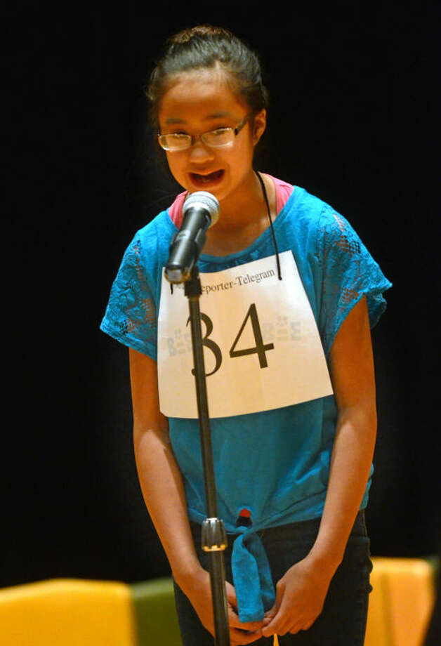 Gabrielle Rubio of Alamo Junior High spells a word during the 26th Annual Midland Reporter-Telegram Regional Spelling Bee on Saturday in the Midland College Allison Fine Arts building. James Durbin/Reporter-Telegram Photo: JAMES DURBIN