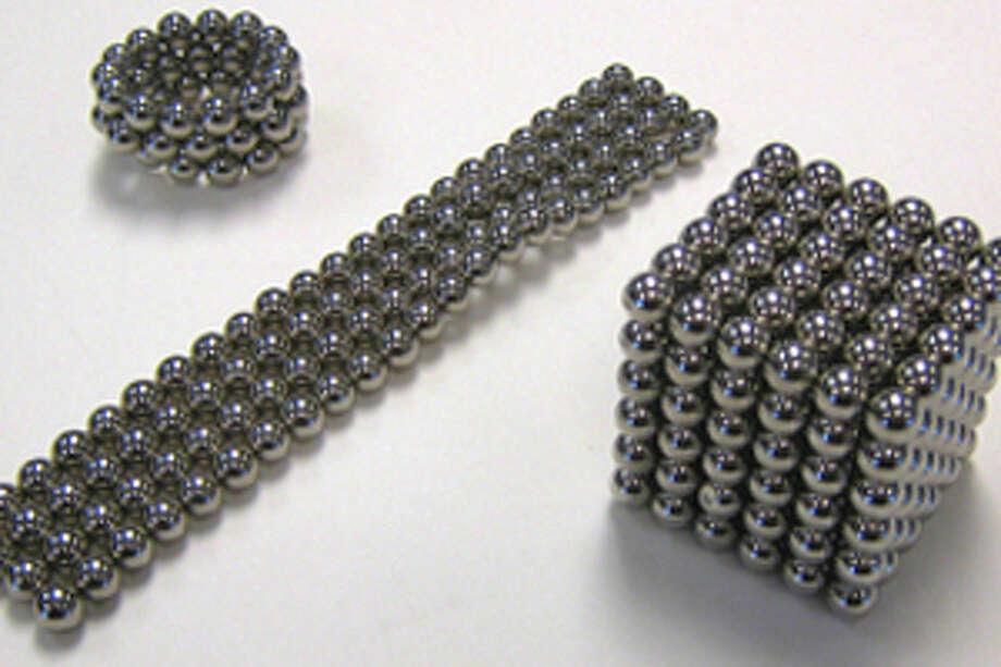 Bucky Balls are intended to be desk toys and stress relievers for adults, who can use them to create patterns and build shapes. The products are often sold in sets of 200 or more and are labeled for ages 14 and older. Photo: Consumer Product Safety Commission