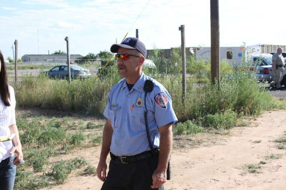 Midland Fire Department's Cpt. Lee Wise in an undated 2010 photo on scene. Photo: Courtesy Roger Primera