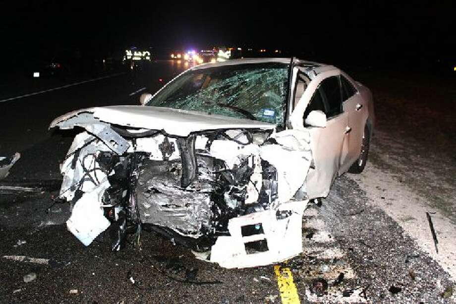 Joel Tavarez is on trial in Midland district court for his role in an accident in which two adults died and two children were injured. Tavarez was behind the wheel of this white Cadillac STS when he allegedly collided with the other vehicle Oct. 5, 2010 crash on Highway 191. Photo: File Photo