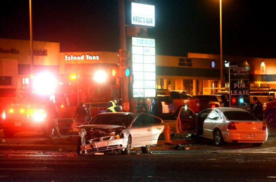 File photo from Thursday, December 21 of a two-vehicle accident at the intersection of Midkiff and Neely. James Durbin/Reporter-Telegram Photo: JAMES DURBIN