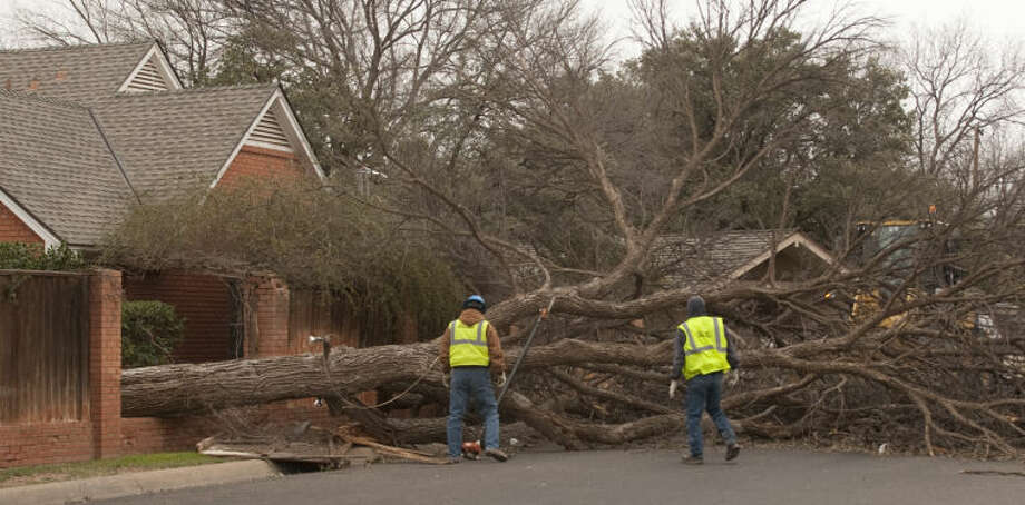 High winds across Midland brought down multiple powerlines, light poles and tree's around town Monday. Tim Fischer\Reporter-Telegram Photo: Tim Fischer