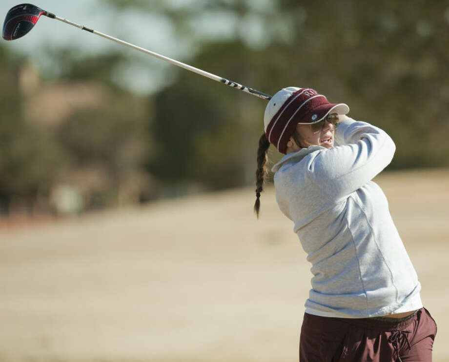 Lee High's Talyn Standard watches her tee shot Friday at the Tall City Invitational at Greentree Country Club. Tim Fischer\Reporter-Telegram Photo: Tim Fischer