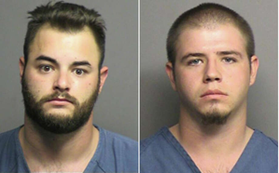 Paul Curtis Lee (left) and Stephen Craig Whitworth (right) both have been found guilty for murder and aggravated assault for killing a 25-year-old Midland man and stabbing his unnamed girlfriend on a lease road near South County Road 1210 in Midland County in the early hours of June 6, 2011. Lee will serve concurrent 48 and 20 year prison terms after reaching a plea deal Friday, March 30, 2012. Whitworth will serve two concurrent 20 year terms after being found guilty by jury Friday, March 23, 2012.