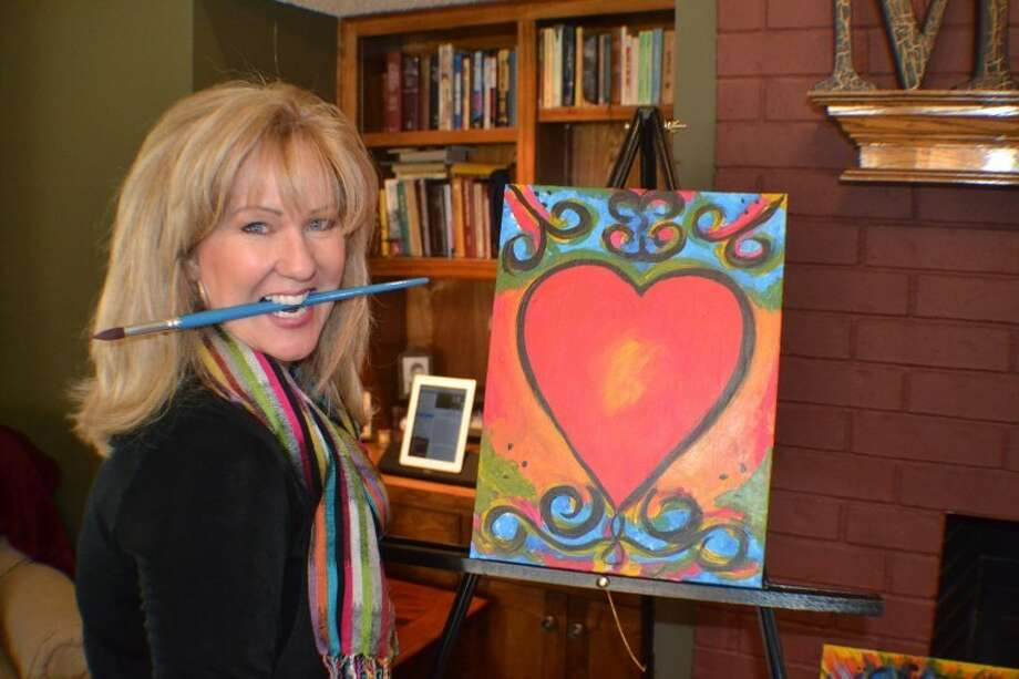 Cindi Thoma hosts a Painting with Spirit party March 4, at the home of Tammy McAlister. Photo: Andrew Thoma