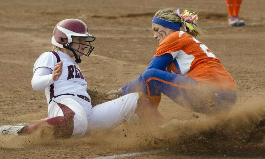 Lee senior Kristen Schlemeyer was a first team selection as an infielder on the 2-5A All-District team. Photo: Tim Fischer