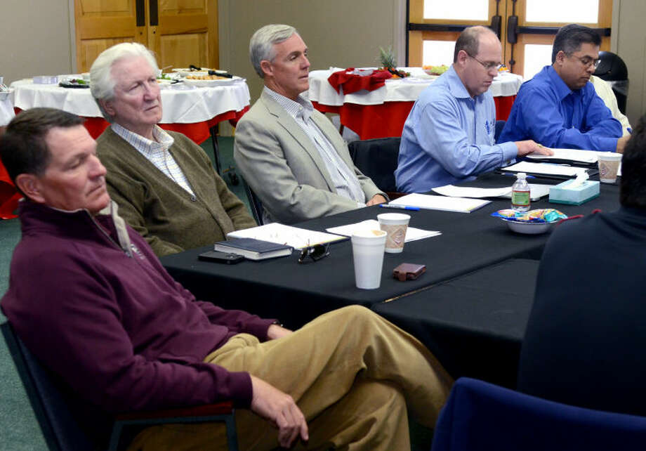 City officials met at the Junior League of Midland Wednesday. James Durbin/Reporter-Telegram Photo: JAMES DURBIN