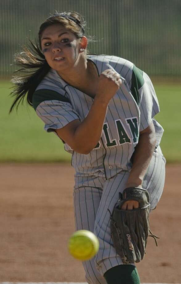 Midland College's Yolanda Rios delivers a pitch Saturday against Frank Phillips College. Photo by Tim Fischer/Midland Reporter-Telegram Photo: Tim Fischer