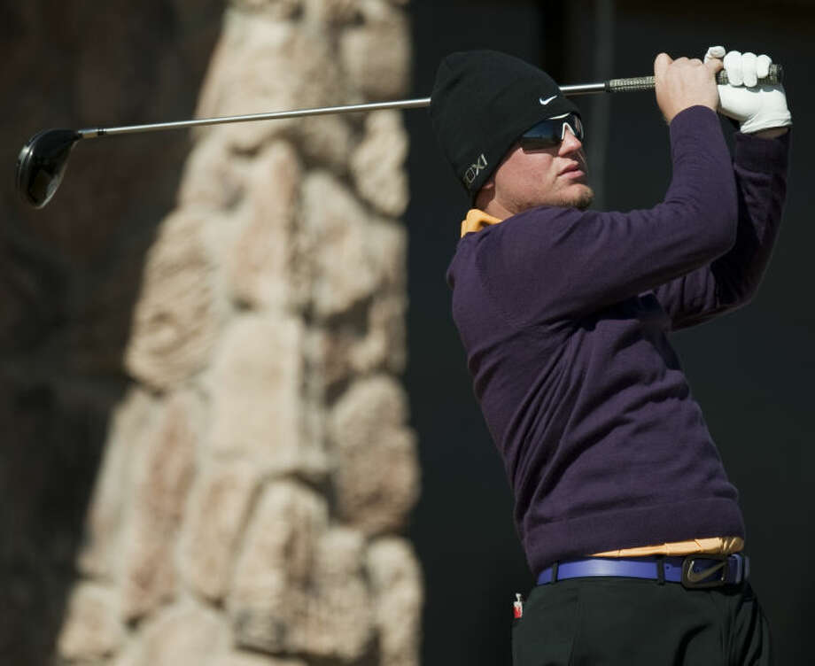 Midland High's Lucas McCubbin, seen here at the Dunn-Ratcliff Tall City Invitational two weeks ago, is leading the medalist standings at the San Angelo Classic after firing a 71 at Bentwood Country Club. Tim Fischer\Reporter-Telegram Photo: Tim Fischer