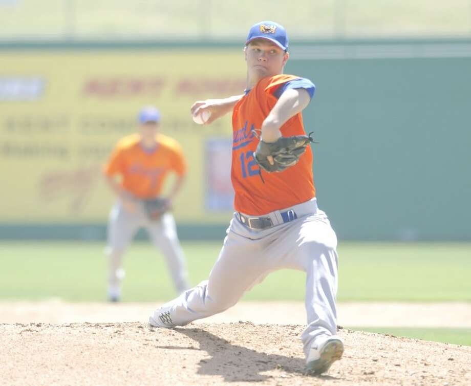 RockHounds pitcher Sonny Gray winds up and throws a pitch during a simulated game on Monday at Citibank Ballpark. Cindeka Nealy/Reporter-Telegram Photo: Cindeka Nealy