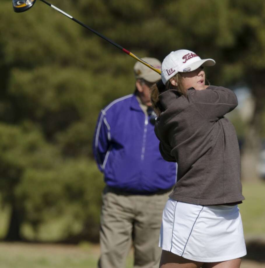 Midland Lee's Talyn Standard follows her tee shot Tuesday at the girls third round of the District 3-5A Tournament at Greentree Country Club. Photo by Tim Fischer/Midland Reporter-Telegram Photo: Tim Fischer