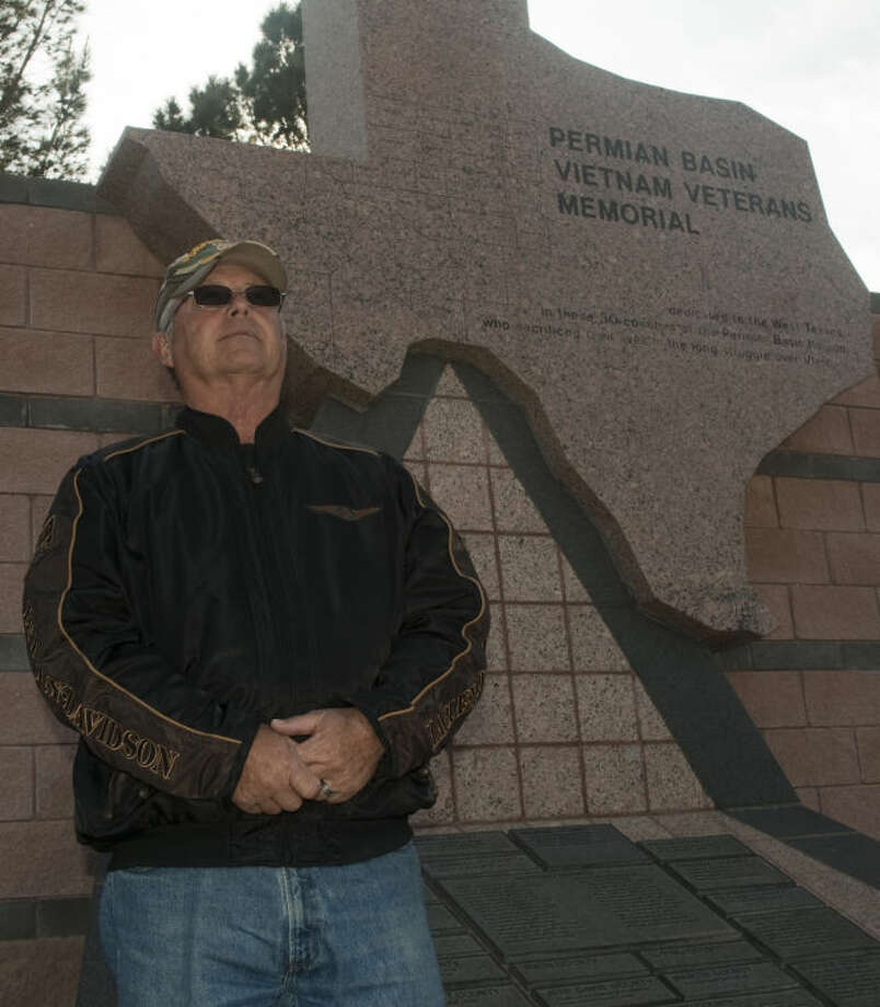 Bill McNeill, Vietnam Veteran, stands at the memorial at the Permian Basin Vietnam Veterans Memorial. Tim Fischer\Reporter-Telegram Photo: Tim Fischer